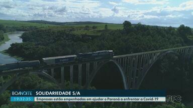 Solidariedade S/A mostra boas ações no período de pandemia - Empresas estão empenhadas em ajudar o Paraná a enfrentar a Covid-19.