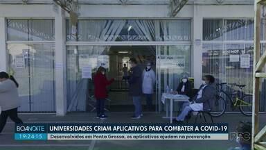 Universidades criam aplicativos para combater a Covid-19 - Desenvolvidos em Ponta Grossa, os aplicativos ajudam na prevenção.