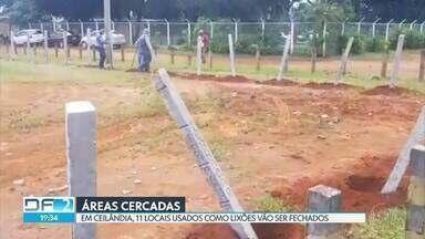 Terrenos são cercados em Ceilândia para evitar o descarte irregular de lixo - Essa foi uma notícias que encerrou o DF2 desta quarta-feira (29).
