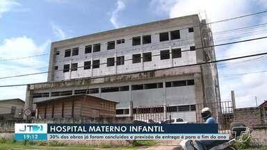 30% das obras do Hospital Materno Infantil já estão concluídas em Santarém - Unidade hospitalar deve ser entregue no fim deste ano, segundo a Prefeitura.