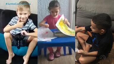 Pais buscam novas alternativas para não deixar seus filhos sozinhos em casa - Crianças e adolescentes estão com as aulas suspensas durante a pandemia.