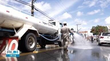Prefeitura de Pilar instala torneiras em vários pontos da cidade - Medida foi adotada para tentar frear o avanço do coronavírus.