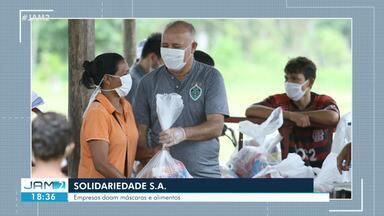 Empresas de Manaus doam máscaras e alimentos - Iniciativas visam diminuir impactos da pandemia