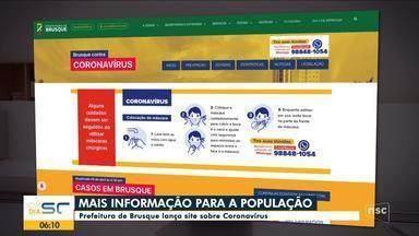 Prefeitura de Brusque lança site com informações sobre o coronavírus - Prefeitura de Brusque lança site com informações sobre o coronavírus