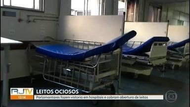 Deputados e vereadores fazem vistoria em hospitais do Rio - A rede pública tem 2.760 leitos de internação ociosos em 27 hospitais. Enquanto isso, as emergências estão superlotadas e pacientes morrem à espera de internação.