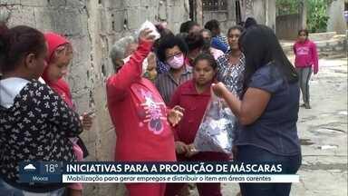 Iniciativas para a produção de máscaras durante a pandemia - Mobilização é para gerar empregos e distribuir o item em áreas carentes.