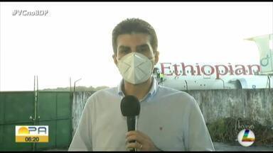 Governo do Pará recebe respiradores e bombas de infusão comprados na China - Governo do Pará recebe respiradores e bombas de infusão comprados na China