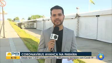 Paraíba tem 1.219 confirmados e 79 mortes por coronavírus - Pelo menos 50 novos casos e três mortes foram confirmados nas últimas 24 horas.