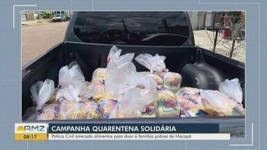 Polícia Civil arrecada alimentos para doação a famílias carentes de Macapá - Polícia Civil arrecada alimentos para doação a famílias carentes de Macapá