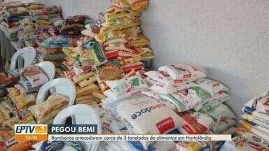 Bombeiros arrecadam cerca de 3 toneladas de alimentos em Hortolândia - Veja mais um exemplo de solidariedade para ajudar as pessoas que mais precisam neste momento de crise causada pela pandemia.