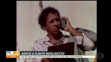 Ator Flávio Migliaccio morre aos 85 anos - Flávio foi encontrado no sitio dele em Rio Bonito nesta segunda (4).