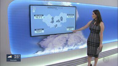 Veja como fica o tempo nesta segunda-feira na região - Cidades registraram temperaturas mais baixas durante a parte da manhã.