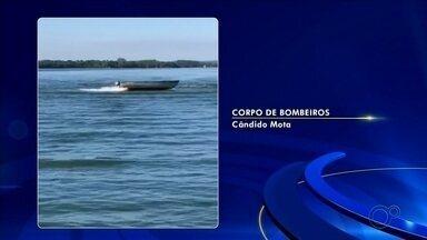 Bombeiros fazem buscas por homem que desapareceu no Rio Paranapanema - Homem de 54 anos estava em bote que foi encontrado girando e com o motor ligado no meio do rio em Porto Almeida, distrito de Cândido Mota (SP).
