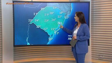 Terça-feira deve ter chuva na Região Noroeste e frio em todo RS - Outras regiões podem ter pancadas de água ao longo do dia.