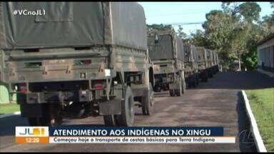 Operação distribui alimentos a comunidades indígenas do Xingu - Operação distribui alimentos a comunidades indígenas do Xingu