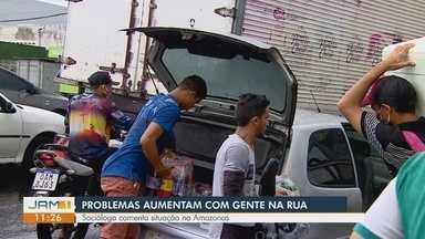 Covid-19: Sociólogo comenta situação no Amazonas - Muitas pessoas ignoram orientações e saem de isolamento.