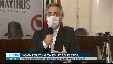 Prefeito de João Pessoa fala sobre abertura de Policlínica - Policlínica será entregue à população nesta terça-feira (05/05).