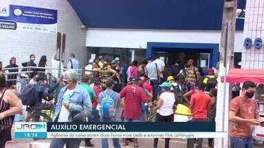 Caixa amplia horário de agências a partir de segunda-feira, 4 - Todas as agências da Caixa vão abrir 2 horas mais cedo e funcionar das 8h às 14h. Em Porto Velho houve filas.