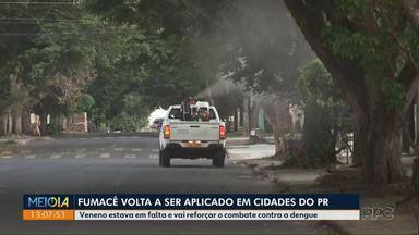 Fumacê volta a ser aplicado em cidades paranaenses - Veneno estava em falta e vai reforçar o combate contra a dengue