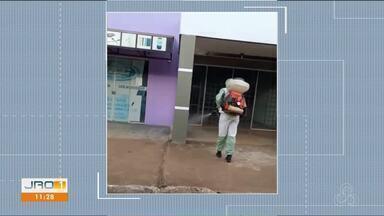 Combate ao novo coronavírus - Ruas em Colina Verde são desinfectadas.