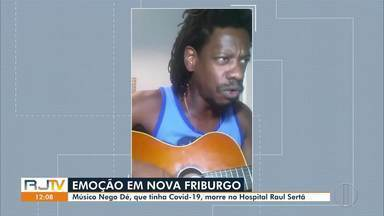 Músico Nego Dé morre com suspeita de Covid-19 em Nova Friburgo, no RJ - Artista era famoso nos distritos de Lumiar e São Pedro da Serra.