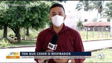Justiça determina que prefeitura de Ananás transfira respirador para hospital de Araguaína - Justiça determina que prefeitura de Ananás transfira respirador para hospital de Araguaína