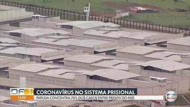 DF concentra 70% dos casos de coronavírus entre os presos do Brasil - Número de presos infectados já é de 290. A Vara de Execuções Penais já cobrou medidas para conter o avanço da COVID-19 no sistema e também montou um grupo para monitorar a situação do complexo penitenciário.