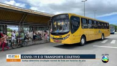 Justiça determina circulação da frota de ônibus durante horário de pico - Justiça determina circulação da frota de ônibus durante horário de pico.
