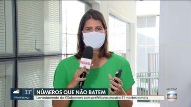 Levantamento com prefeituras mostra 51 mortes a mais pelo novo coronavírus no RJ - Um levantamento da GloboNews mostra que os números das prefeituras e os divulgados pelo governo do estado não batem.