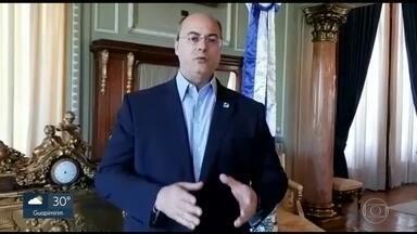 Witzel diz que vai fechar estabelecimentos comerciais que não obedeçam a quarentena - Em vídeo, o governador do RJ disse que vai adotar medidas drásticas, mas não mencionou o lockdown da cidade.