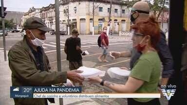 Chef de cozinha e voluntários distribuem alimentos durante pandemia - Maisa Campos decidiu fazer ação solidária em meio à crise causada pelo novo coronavírus.