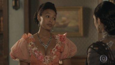 Diara visita Anna - Thomas tenta evitar o encontro da ex-escrava e manda Nívea escutar a conversa das duas. Diara teme se mudar para a Europa e enfrentar o preconceito