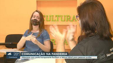 Máscaras com parte transparente facilitam a leitura labial para pessoas surdas - Em tempos de pandemia, iniciativa promove acessibilidade para quem possui alguma dificuldade auditiva.