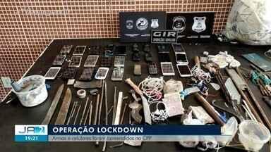 Armas e celulares são apreendidas na CPP de Palmas - Armas e celulares são apreendidas na CPP de Palmas