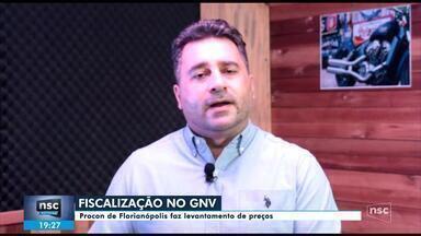 Procon de Florianópolis fiscalização preço do GNV vendido nos postos - Procon de Florianópolis fiscalização preço do GNV vendido nos postos