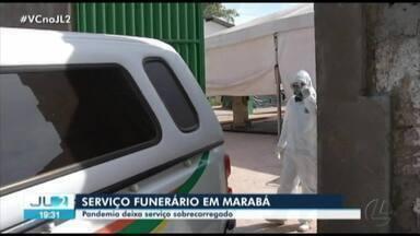 Serviço funenário já começa a sobrecarregar em Marabá devido ao novo coronavírus - Até início da tarde, 15 pessoas morreram com a Covid-19 no município.