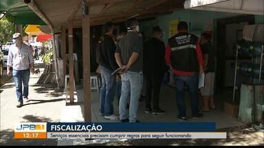 Procon fiscaliza e notifica lojas em João Pessoa - Estabelecimentos não essenciais devem ficar fechados.