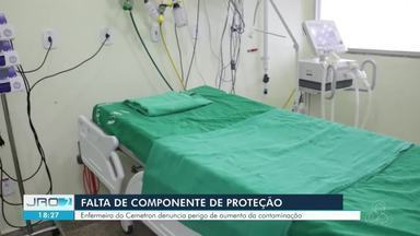 Profissionais de saúde denunciam falta de componente nos respiradores do Cemetron - Peça serve para aspirar o paciente diagnosticado com o novo coronavírus. Falta aumenta risco de contaminação com Covid-19, dizem profissionais.