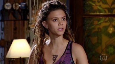 Luana não aceita seu dom - Em conversa com Márcia e Zambeze, Luana diz que não pediu e não quer ter esse dom de prever o futuro