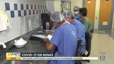 Covid-19:106 pessoas já morream por causa da doença em Minas - Outras 123 mortes estão em investigação.