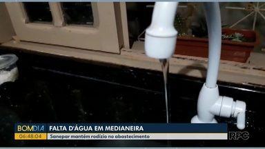Moradores de Medianeira sofrem com a falta d'água - Região passa por estiagem e Sanepar faz rodízio de abastecimento.