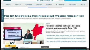 Confira as principais manchetes do jornal 'O Estado do Maranhão' - Acompanhe as principais notícias do jornal na manhã desta segunda-feira (11).