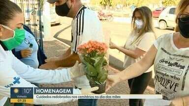 Coronavírus diminui movimentação em cemitério de Sumaré no Dia das Mães - Além do fluxo de visitantes menor, data foi marcada pela intensificação das medidas de higiene no local.