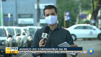 Paraíba tem 2.341 casos confirmados e 135 mortes por coronavírus - Pelo menos 185 novos casos e 11 mortes foram confirmados nas últimas 24 horas.
