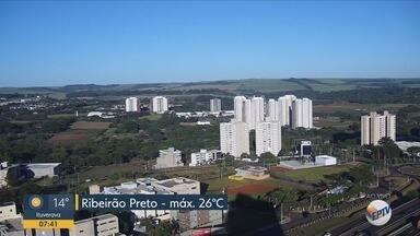 Confira a previsão do tempo para esta segunda-feira (11) em Ribeirão Preto e região - Temperatura deve chegar aos 26º C.