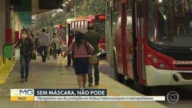 Usuários da Estação Morro Alto reclamam de aglomeração nas filas - O uso de máscaras é obrigatório nos ônibus coletivos.