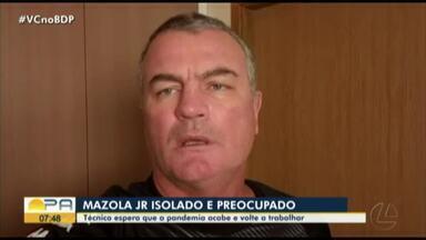 Em Campinas, técnico Mazola Jr grava depoimento - O técnico azulino torce pelo fim da pandemia e retorno das atividades do time.