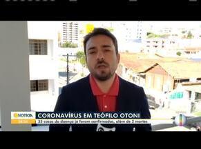 Covid-19: É confirmada a terceira morte em Teófilo Otoni - 35 casos da doença já foram confirmados, além de duas mortes.