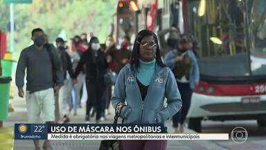Uso de máscaras nos ônibus em Minas - Medida é obrigatória nas viagens metropolitanas e intermunicipais.