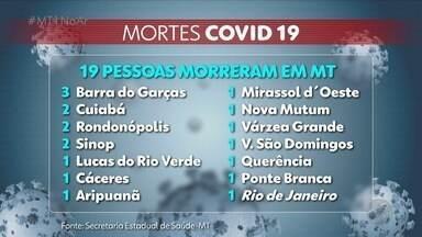 Mato Grosso registra 19 mortes pelo novo coronavírus - Mato Grosso registra 19 mortes pelo novo coronavírus.
